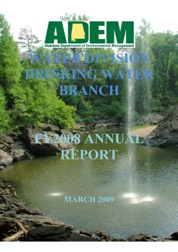 2008 Annual Report-Final - Alabama Department of Environmental ...