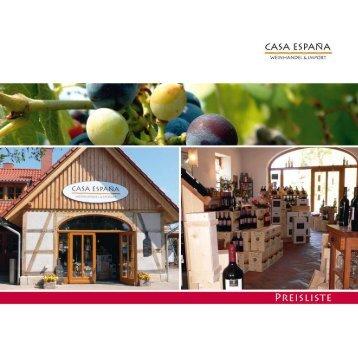 Probieren & geniessen Sie die Vielfalt der spanischen - Casa Espana