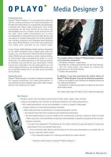 Media Designer 3 Overview