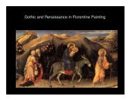Gothic and Renaissance in Florentine Painting