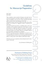Author Guidelines Book - Quintessenz Verlag, Berlin
