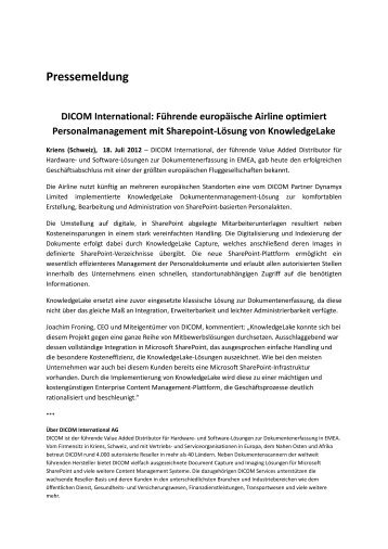 Pressemeldung - DICOM