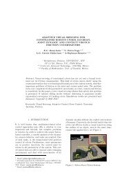 ADAPTIVE VISUAL SERVOING FOR CONSTRAINED ROBOTS ...