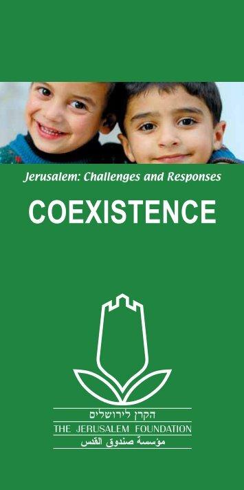 COEXISTENCE - Jerusalem Foundation