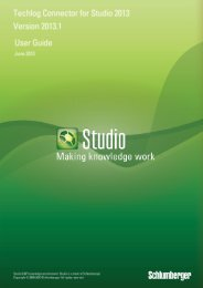 Techlog Connector for Studio 2013 User Guide - Ocean ...