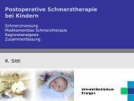 Postoperative Schmerztherapie bei Kindern - Schmerzzentrum