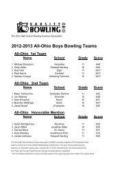 All-Ohio Teams - Ohio High School Athletic Association