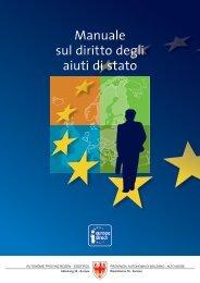 Manuale sul diritto degli aiuti di stato - Rete Civica dell'Alto Adige