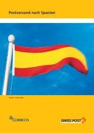 Postversand nach Spanien - Swiss Post