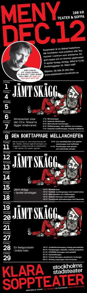 Jämt skägg Jämt skägg Jämt skägg - Stockholms Stadsteater
