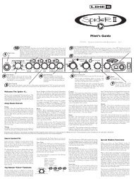 Spider II Pilot's Guide - Electrophonic Limited Edition Revision C