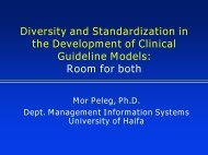 Modeling and representation of clinical guidelines - OpenClinical