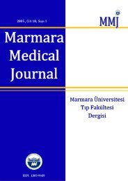 Marmara Medical Journal