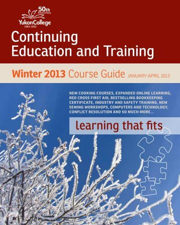 SCET Winter Course Guide 2013 - Yukon College