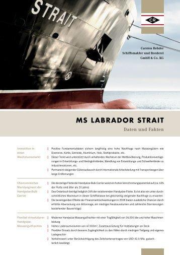 Daten und Fakten MS LABRADOR STRAIT Daten ... - Carsten Rehder