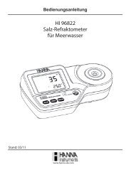 HI 96822 Salz-Refraktometer für Meerwasser - aquaRent