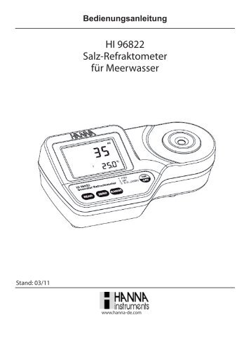 bedienungsanleitung f r mini photometer checker hi 713 f. Black Bedroom Furniture Sets. Home Design Ideas