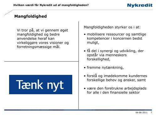 Mangfoldighed i Nykredit - Ny i Danmark