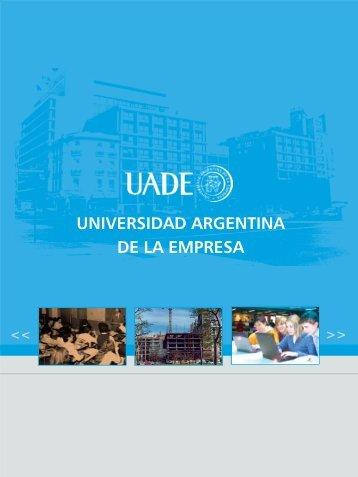 folleto cambiado 40 años.pmd - Universidad Argentina de la Empresa