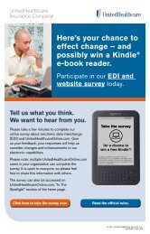 EDI & Website Survey Sweepstakes! - UnitedHealthcareOnline.com