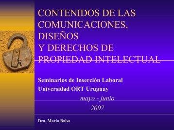 Contenidos de las comunicaciones, diseños y derechos de ...