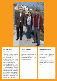 Dr. Eric Henn Sarah Ottinger Bernd Dornacher - CDU Ilvesheim