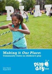 Making it Our Place: A literature review - Play Scotland