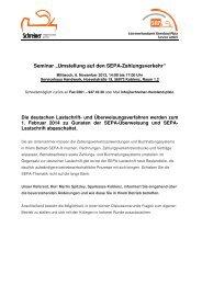 """Seminar """"Umstellung auf den SEPA-Zahlungsverkehr"""""""