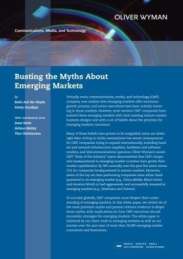 CMT08-Emerging Markets Myths.indd - Oliver Wyman
