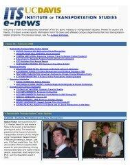 Issue 34, February 2008 - Institute of Transportation Studies - UC ...