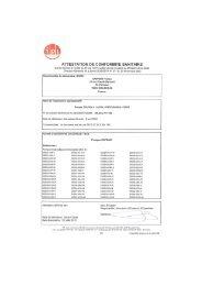 Page 1 Mb gj ATTESTATION DE CONFORMITE SANITAIRE ...