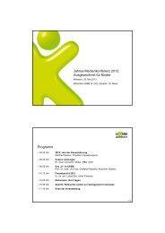 Jahres-Medienkonferenz 2012: Ausgezeichnet für Kinder ... - UKBB