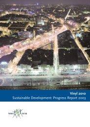 Vinyl 2010 Sustainable Development: Progress Report 2003