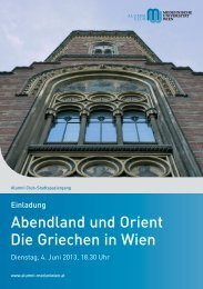 Alumni Club-Stadtspaziergang - Alumni Club Medizinische ...