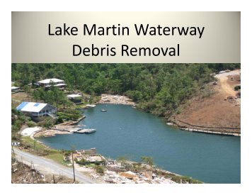 Lake Martin Waterway y Debris Removal - Association of County ...