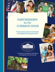 Partnerships for the Common Good - The White House
