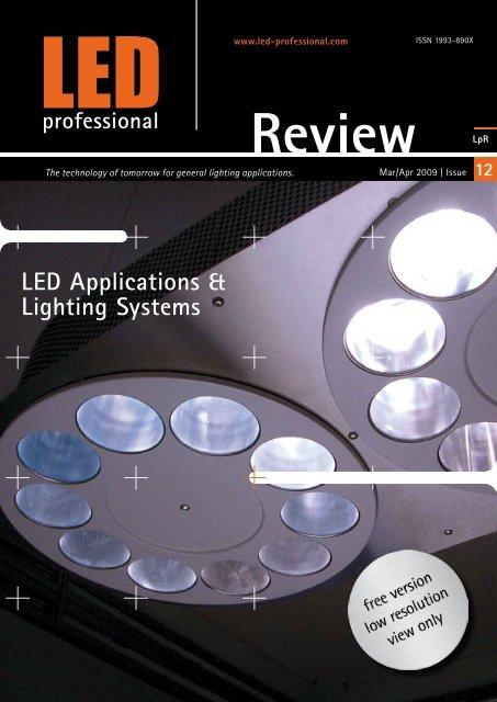Led Applications Lighting Systems Fonarevka