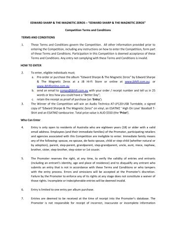 View PDF for full Terms and Conditions - JB Hi Fi