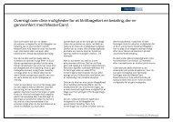 Indsigelsesmuligheder for MasterCard (pdf) - Danske Bank