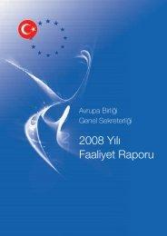 2008 Yılı Faaliyet Raporu - Avrupa Birliği Bakanlığı
