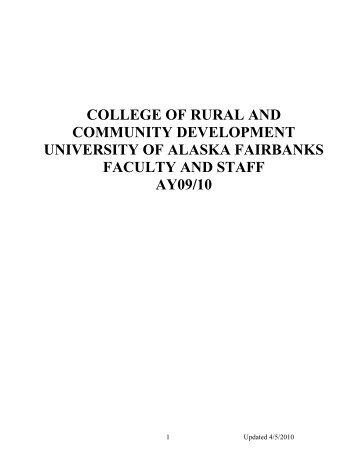 OFFICE OF THE EXECUTIVE DEAN - University of Alaska Fairbanks