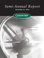 Semi-Annual Report December 31, 2012 - COUNTRY Financial
