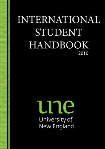 INTERNATIONAL STUDENT HANDBOOK - University of New England