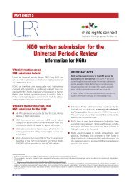 NGO written submission for the Universal Periodic Review - UPR Info