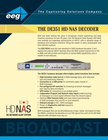 THE DE351 HD NAS DECODER