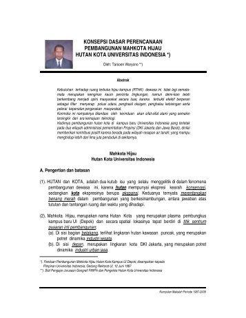 Mahkota Hijau UI.Pdf - Blog Staff UI - Universitas Indonesia