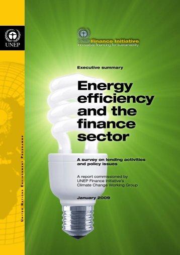 Energy Efficiency and the Finance Sector - Executive summary