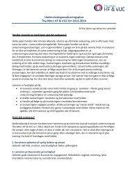 Undervisningsevaluering - Thy-Mors HF & VUC