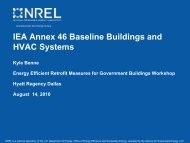 IEA Annex 46 Baseline Buildings and HVAC Systems