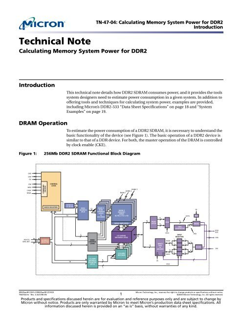 TN 47-02: Calculating Memory System Power for DDR2 - Micron